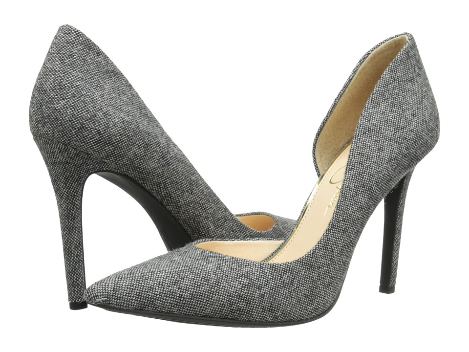 Jessica Simpson - Claudette (Black/White Jack Tweed) High Heels