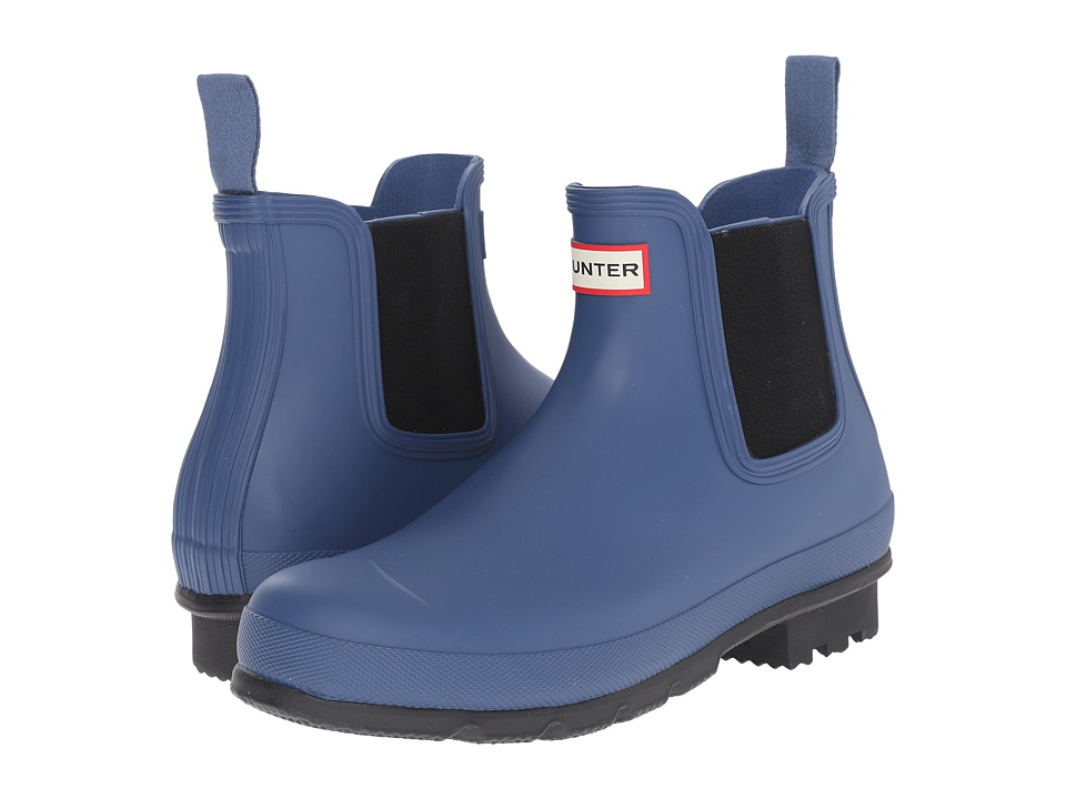 Hunter - Original Chelsea Dark Sole (Tarp Blue) Men's Rain Boots