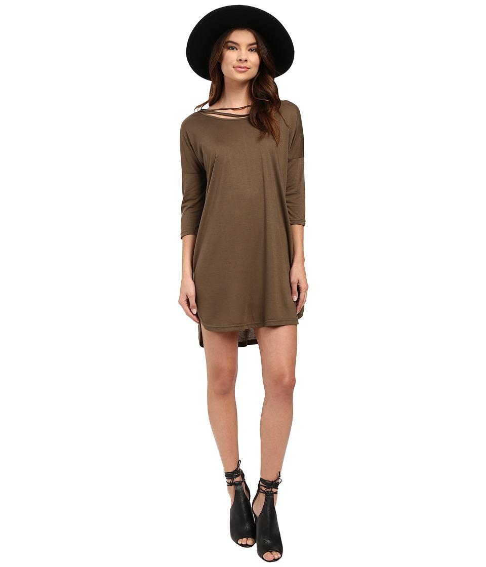 Culture Phit - Arbor Dolman Sleeve Dress (Olive) Women's Dress