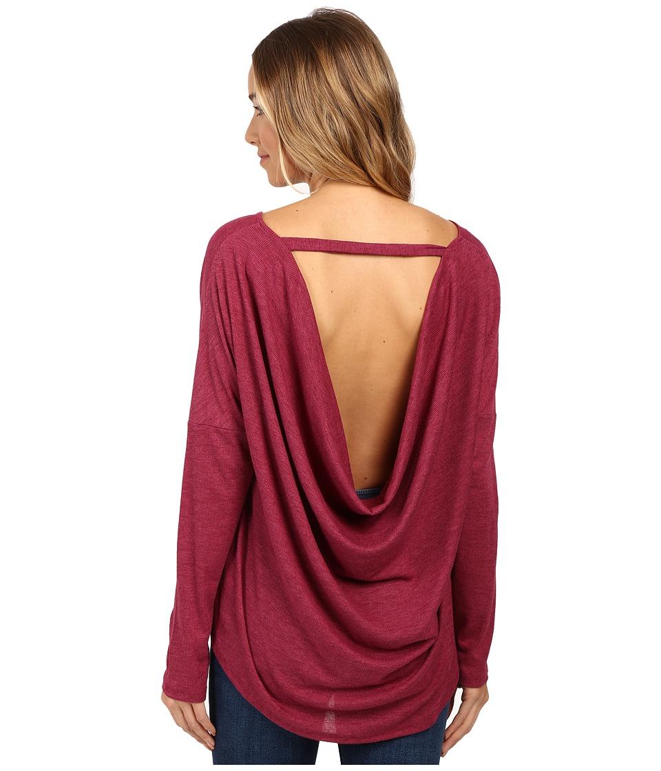 Culture Phit - Chavonne Cowl Back Top (Burgundy) Women's Clothing