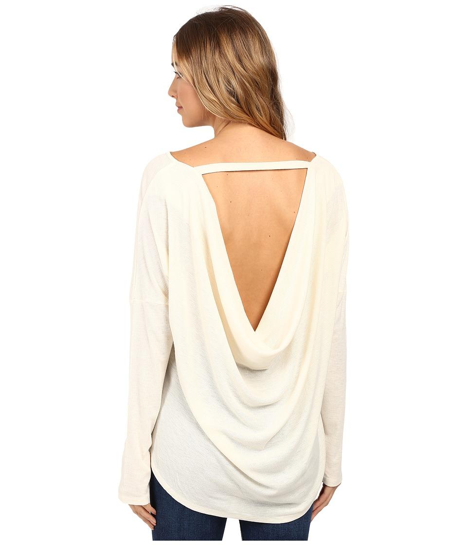 Culture Phit - Chavonne Cowl Back Top (Cream) Women's Clothing