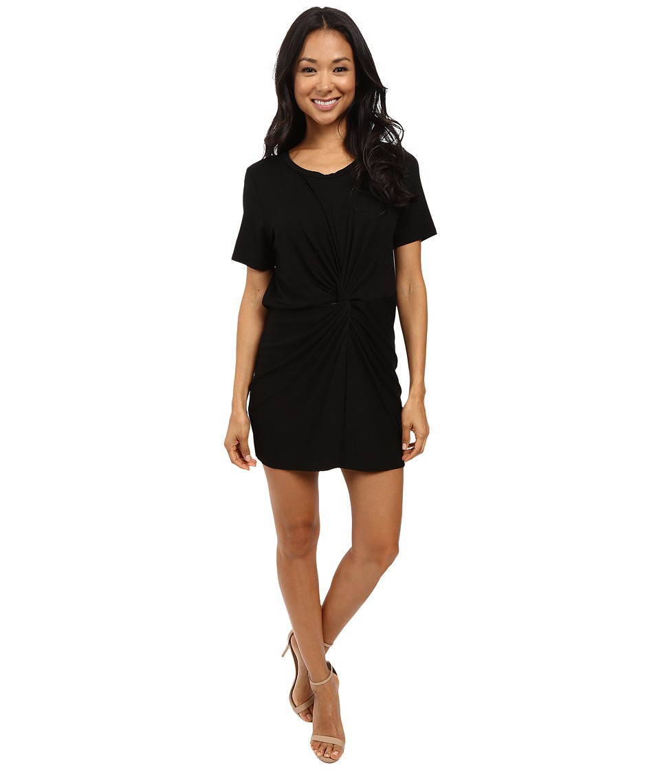 Culture Phit - Azure Twist Front Dress (Black) Women's Clothing
