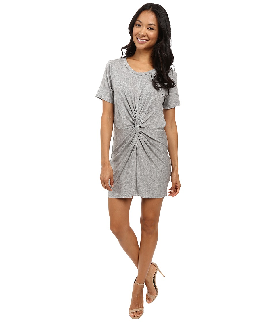 Culture Phit - Azure Twist Front Dress (Heather Grey) Women's Clothing