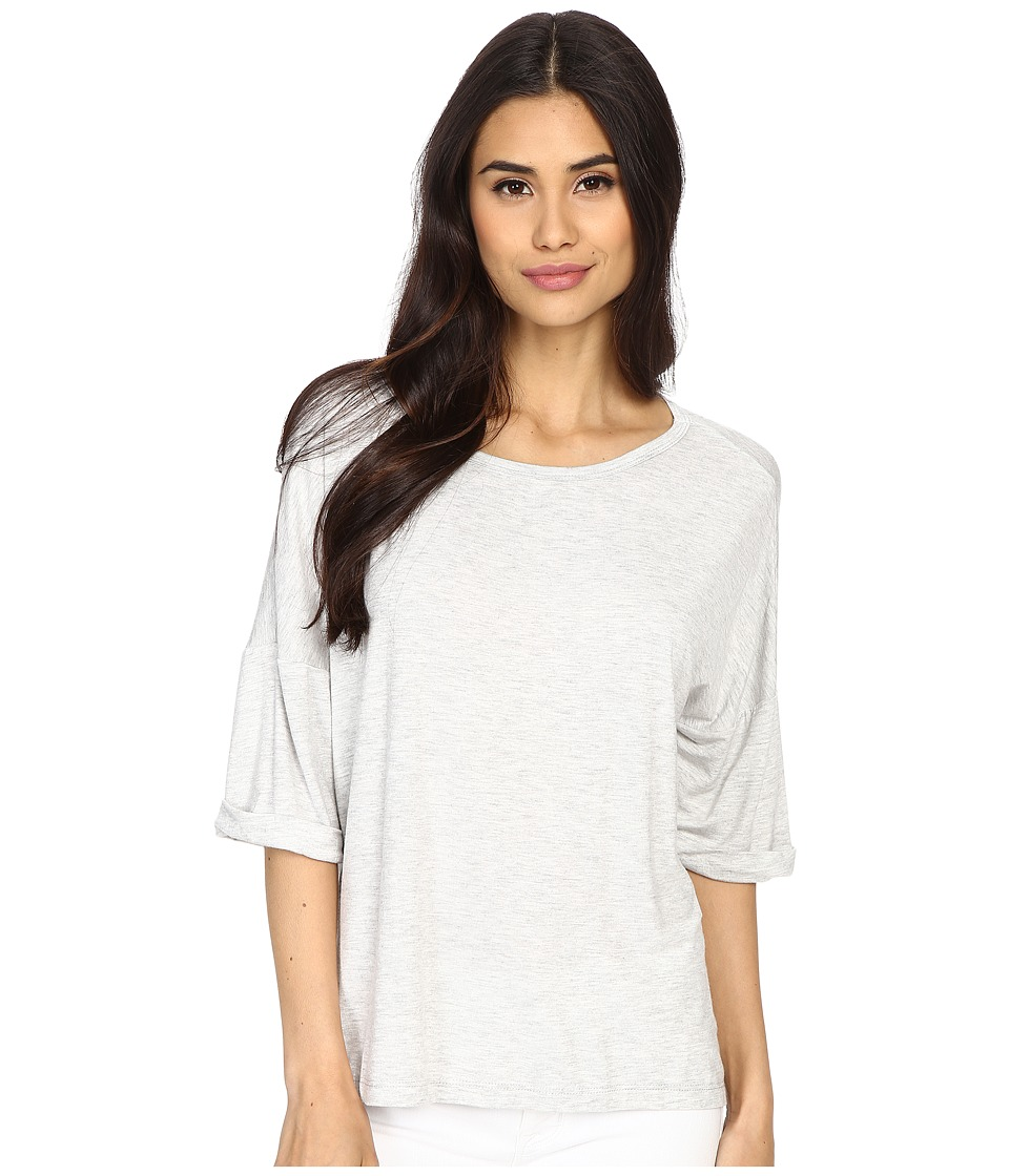 Culture Phit - Affinity 3/4 Sleeve Comfy Top (Light Grey) Women's Clothing