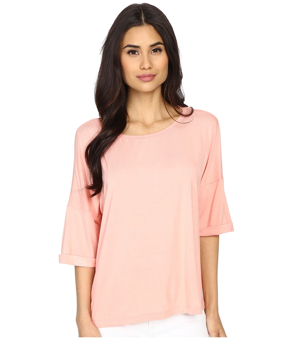 Culture Phit - Affinity 3/4 Sleeve Comfy Top (Blush) Women's Clothing