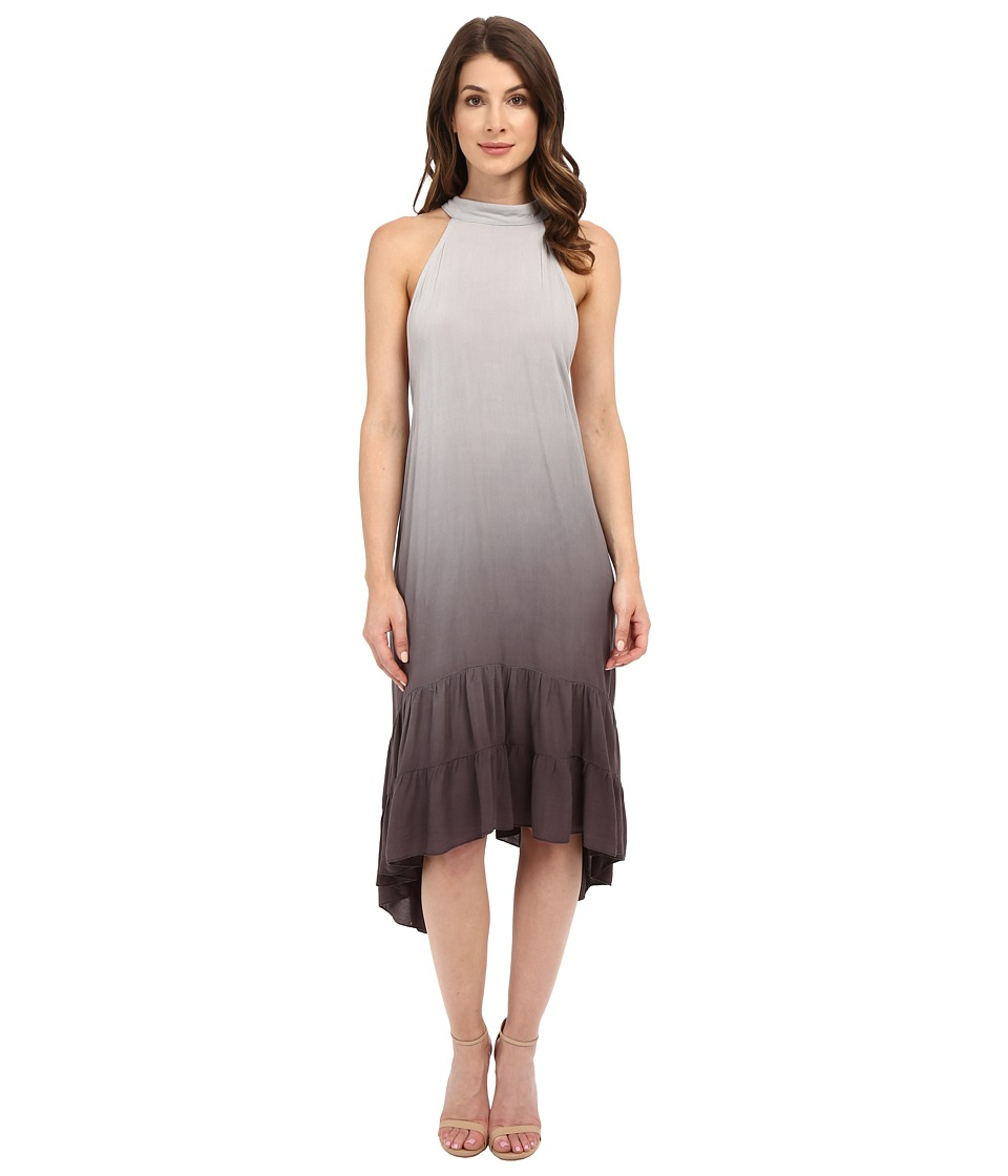 Culture Phit Camisha Ombre Halter Dress (Grey) Women