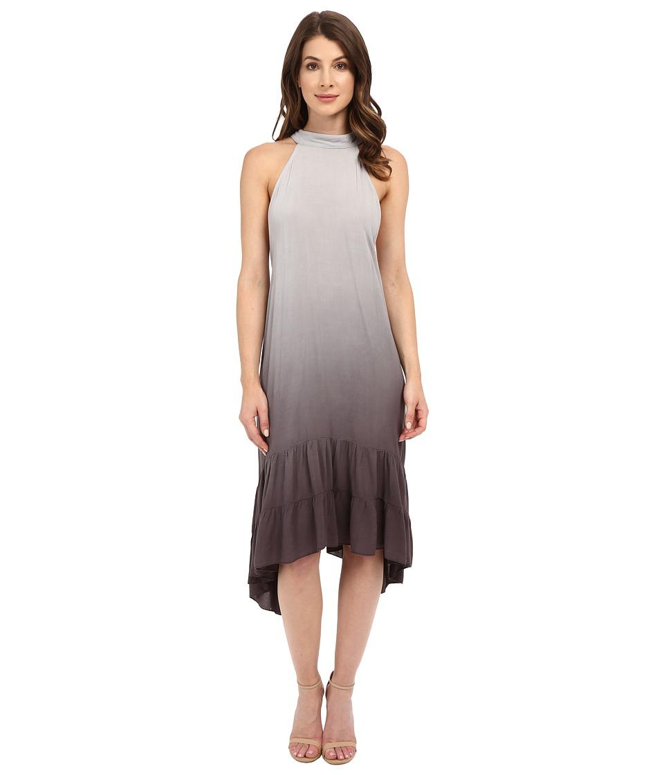 Culture Phit - Camisha Ombre Halter Dress (Grey) Women's Dress