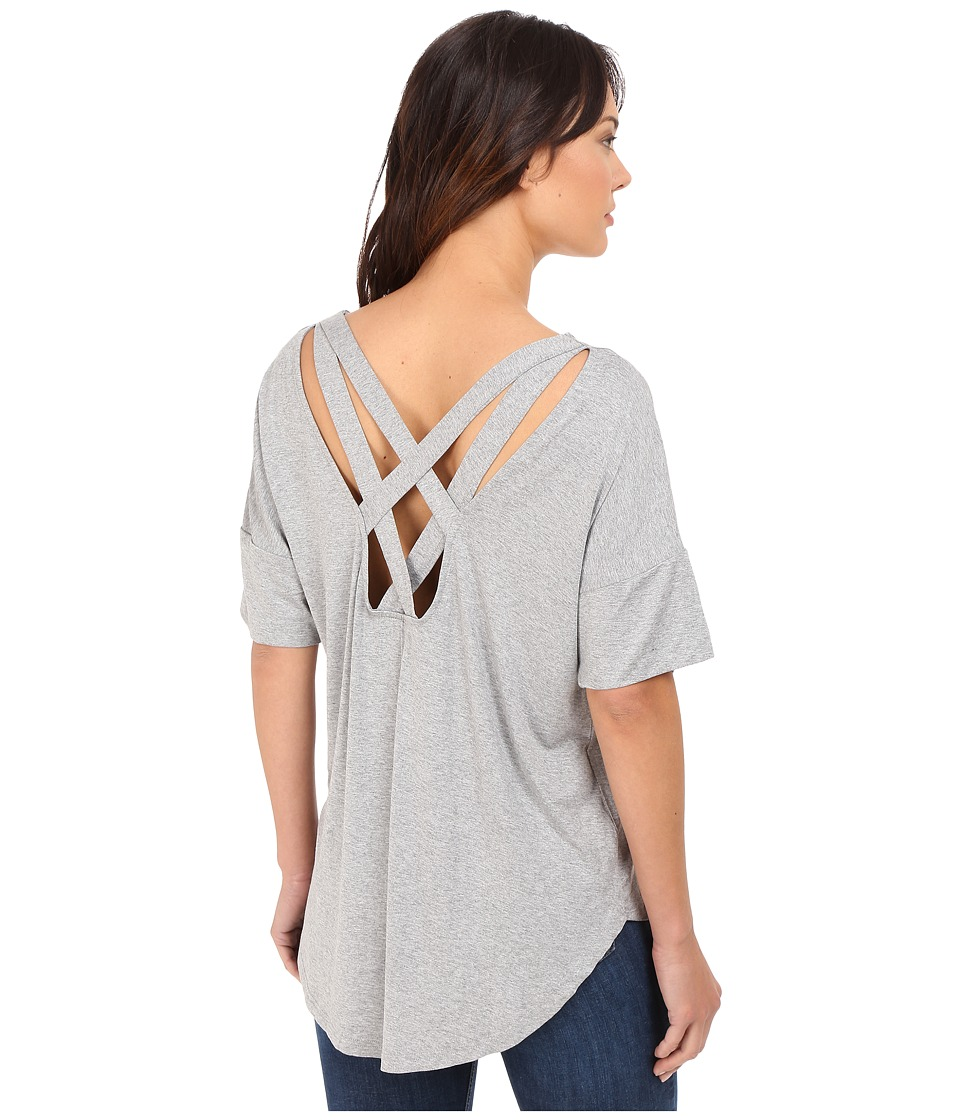 Culture Phit - Atiyana Short Sleeve Top (Heather Grey) Women's Clothing