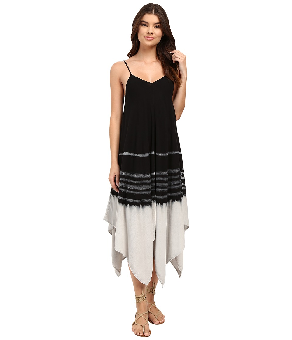 Culture Phit Calico Flowy Tie-Dye Midi Dress (Black) Women