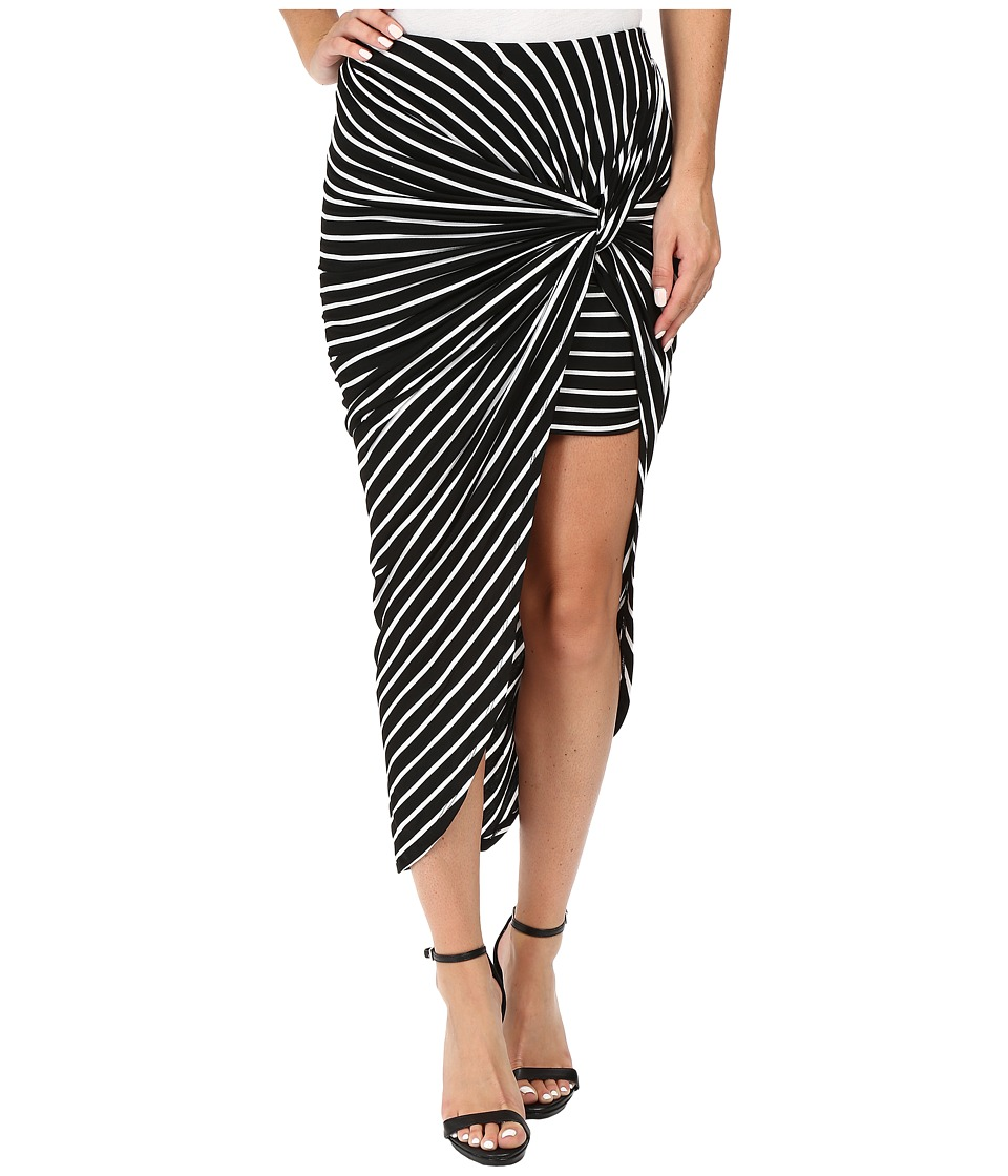 Culture Phit Baylyn Knotted Skirt (Black) Women