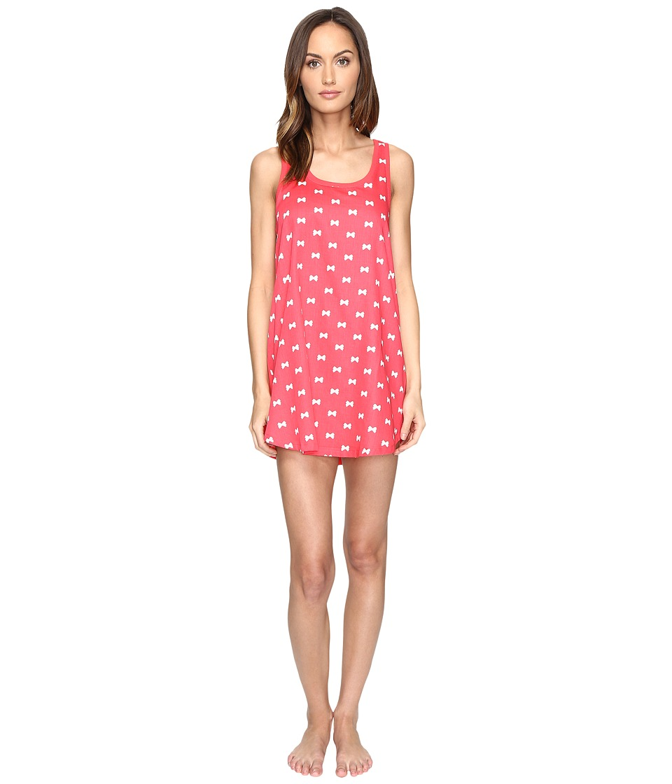 Kate Spade New York - Cotton Sateen Cotton Modal Chemise (Bow Tie Mini Geranium) Women's Pajama