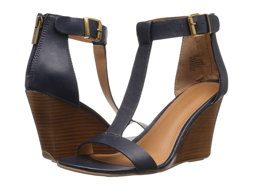 Kenneth Cole Reaction - Ava Gave (Navy) Women's Wedge Shoes