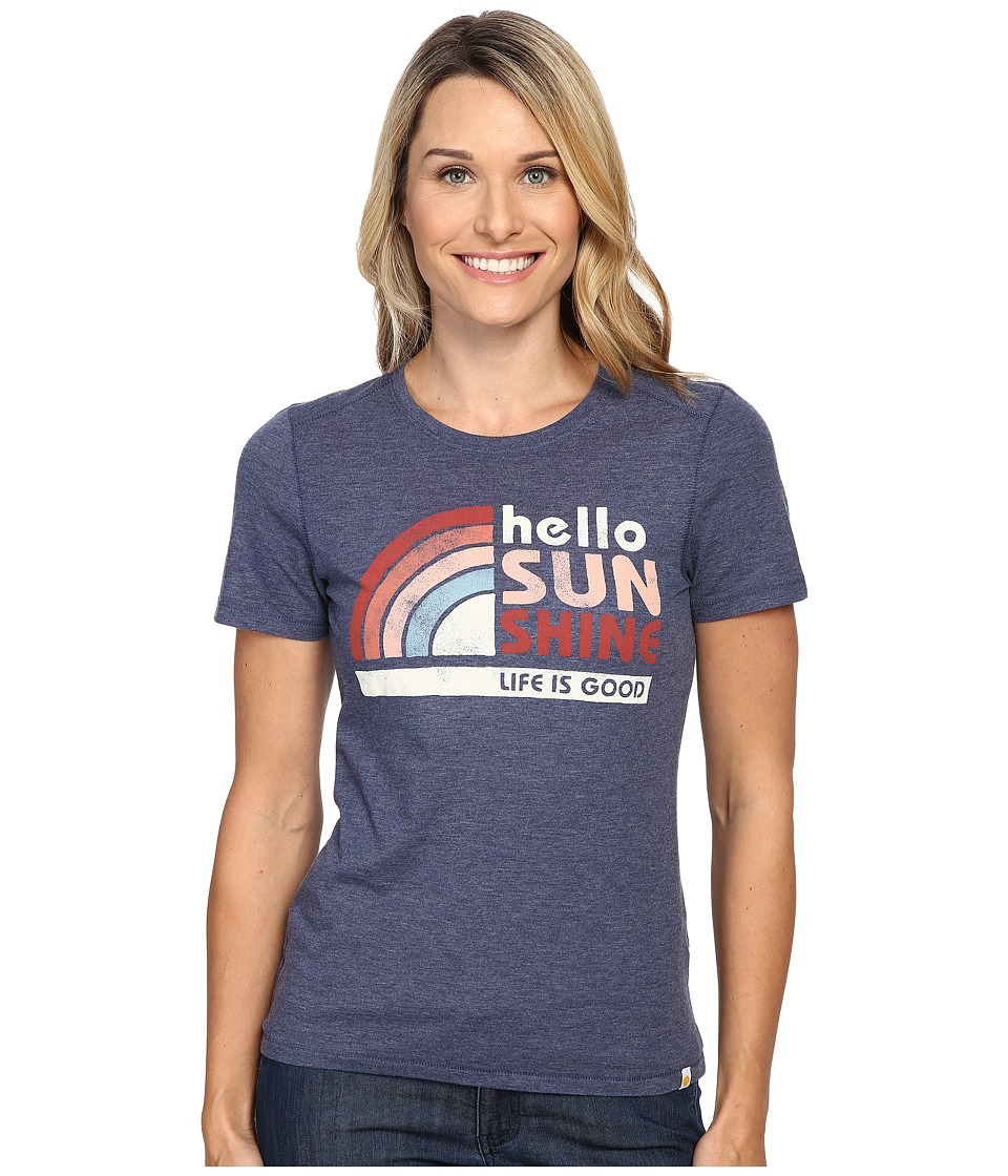 Life is good - Hello Sunshine Rainbow Cool Tee (Darkest Blue) Women's T Shirt