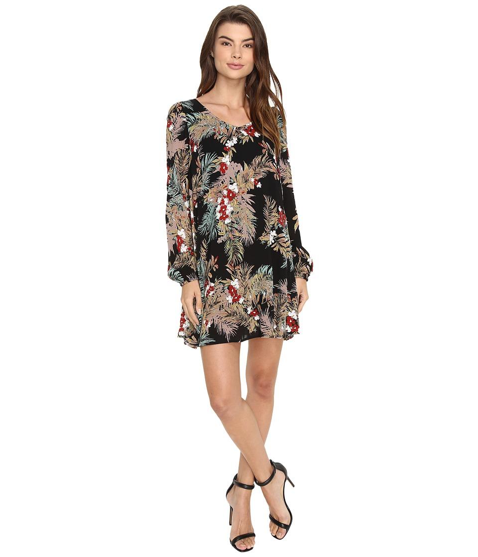 Brigitte Bailey - Uma Long Sleeve Dress (Black) Women's Dress