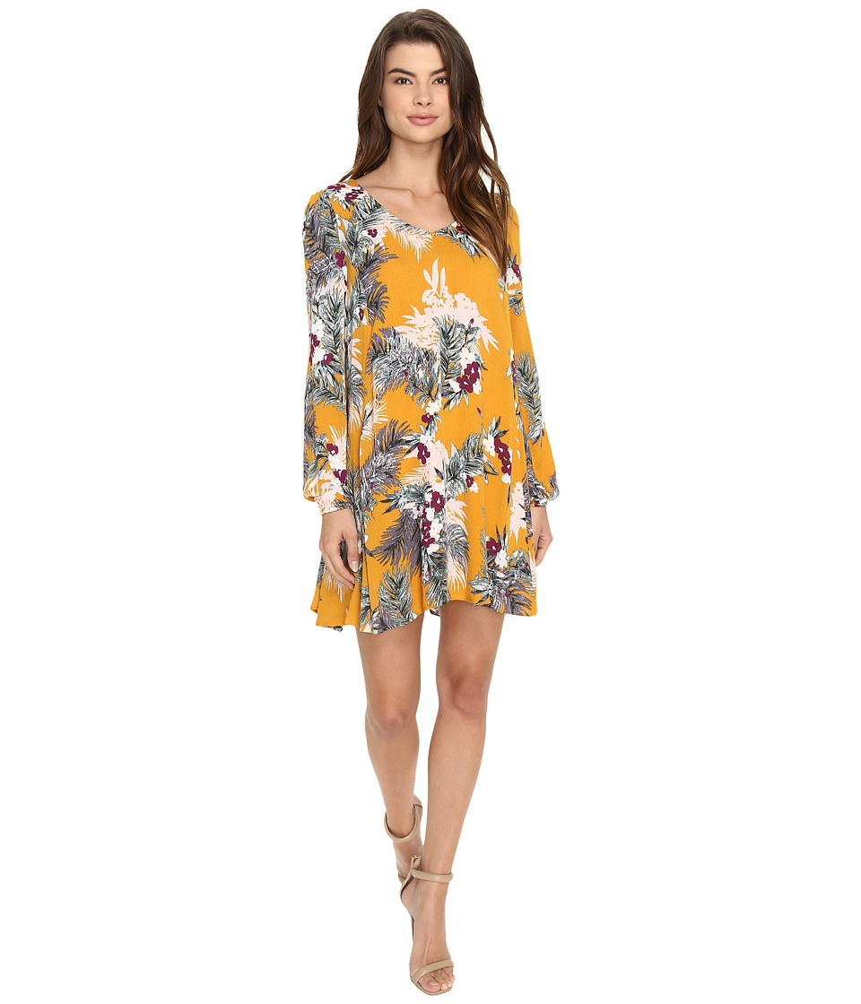 Brigitte Bailey - Uma Long Sleeve Dress (Marigold) Women's Dress