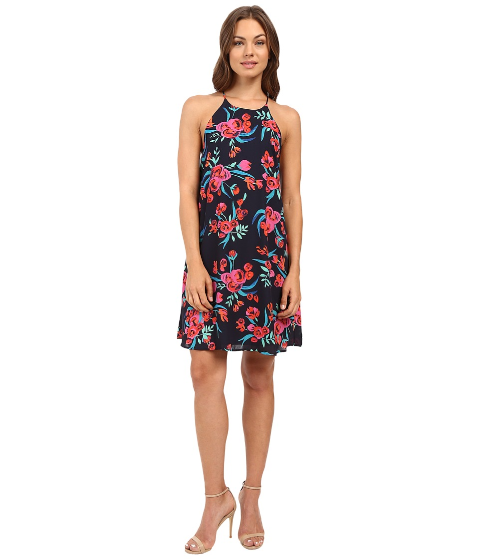 Brigitte Bailey - Brycin Spaghetti Strap Floral Dress (Navy) Women's Dress