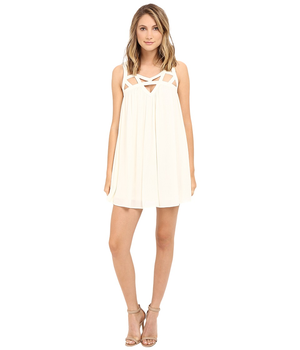 Brigitte Bailey Clementina Strappy Tunic Dress (Vanilla) Women