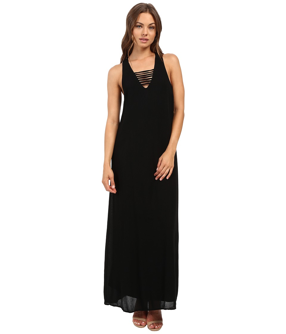 Brigitte Bailey - Merrigan Maxi Dress with Strap Detail (Black) Women's Dress