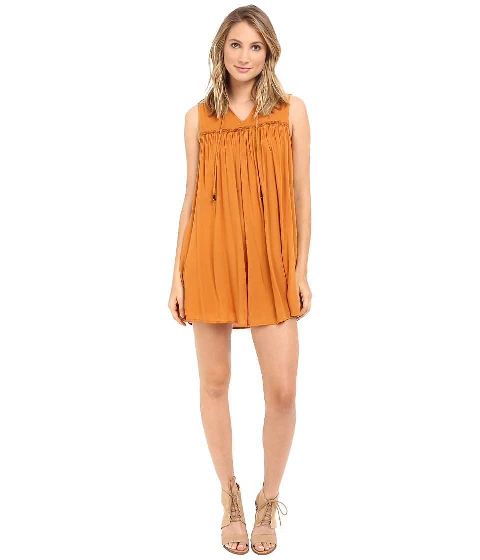 Brigitte Bailey - Lenore Boho Dress (Marigold) Women's Dress