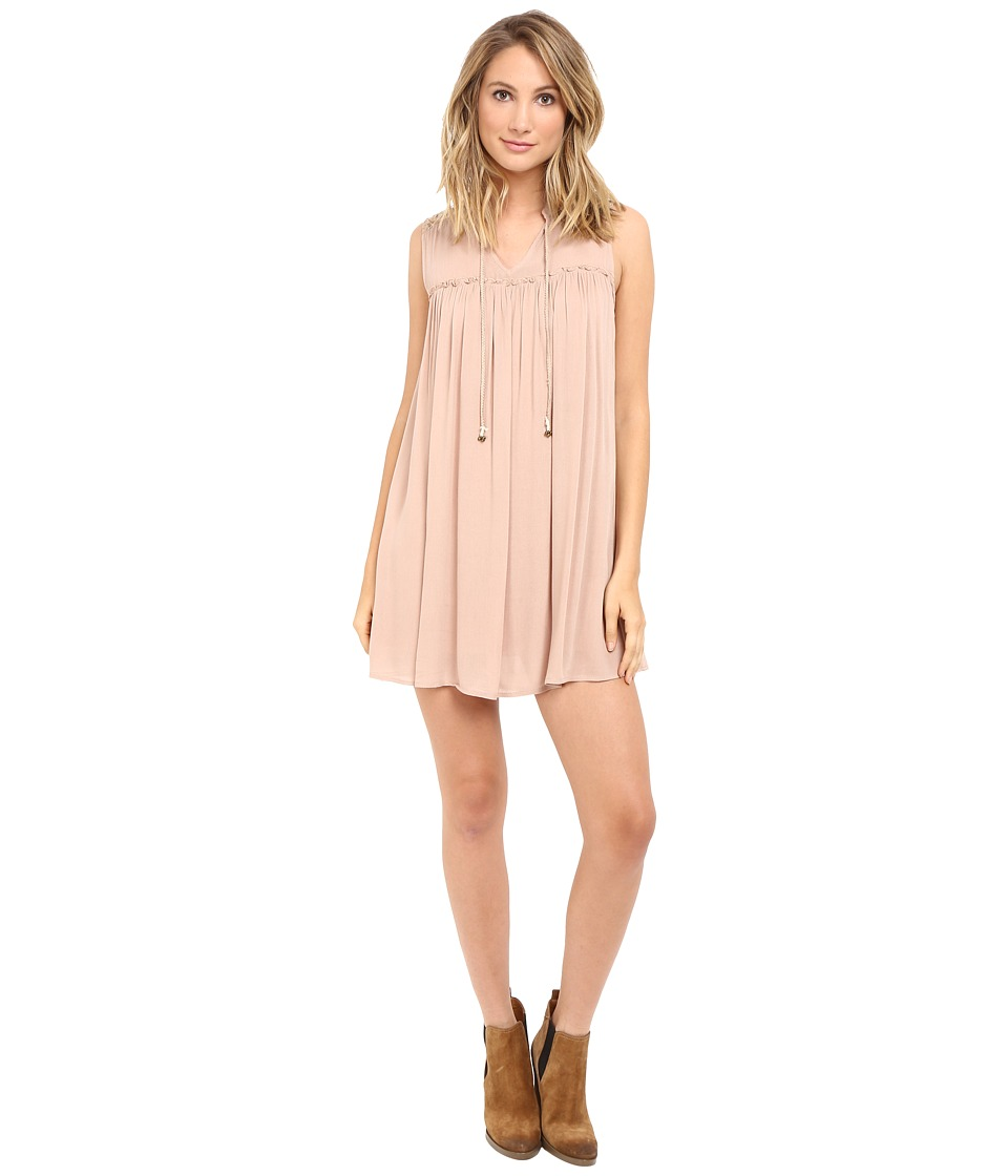 Brigitte Bailey - Lenore Boho Dress (Taupe) Women's Dress