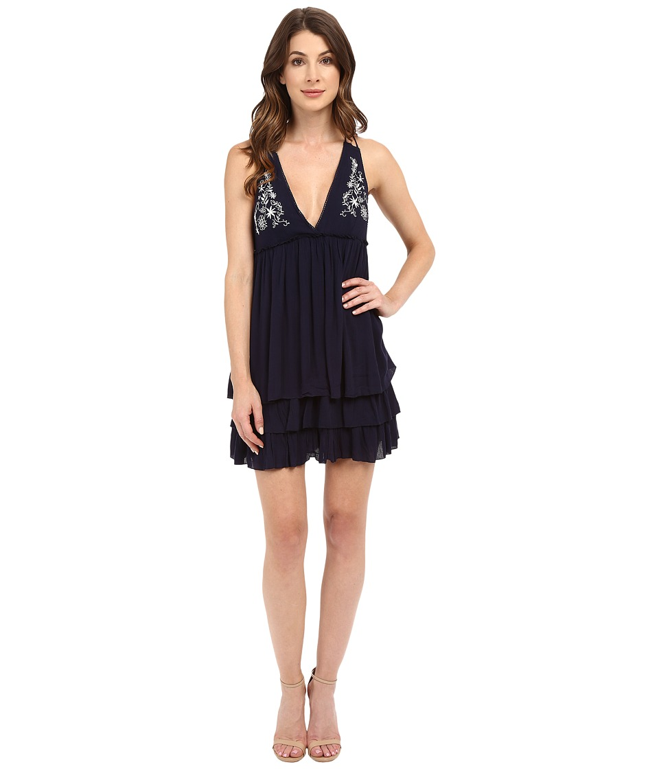 Brigitte Bailey - Hester Sleeveless Embroidered Dress (Navy) Women's Dress