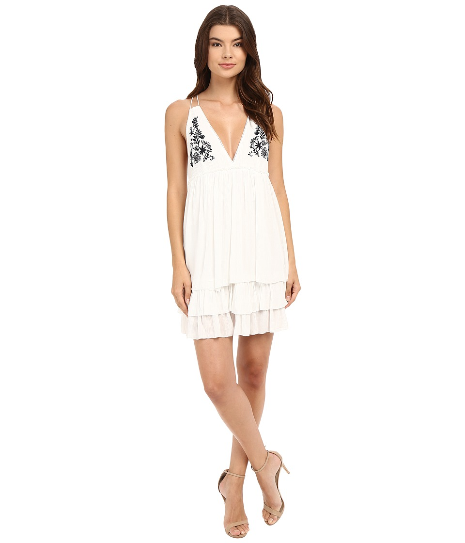 Brigitte Bailey - Hester Sleeveless Embroidered Dress (Off-White) Women's Dress
