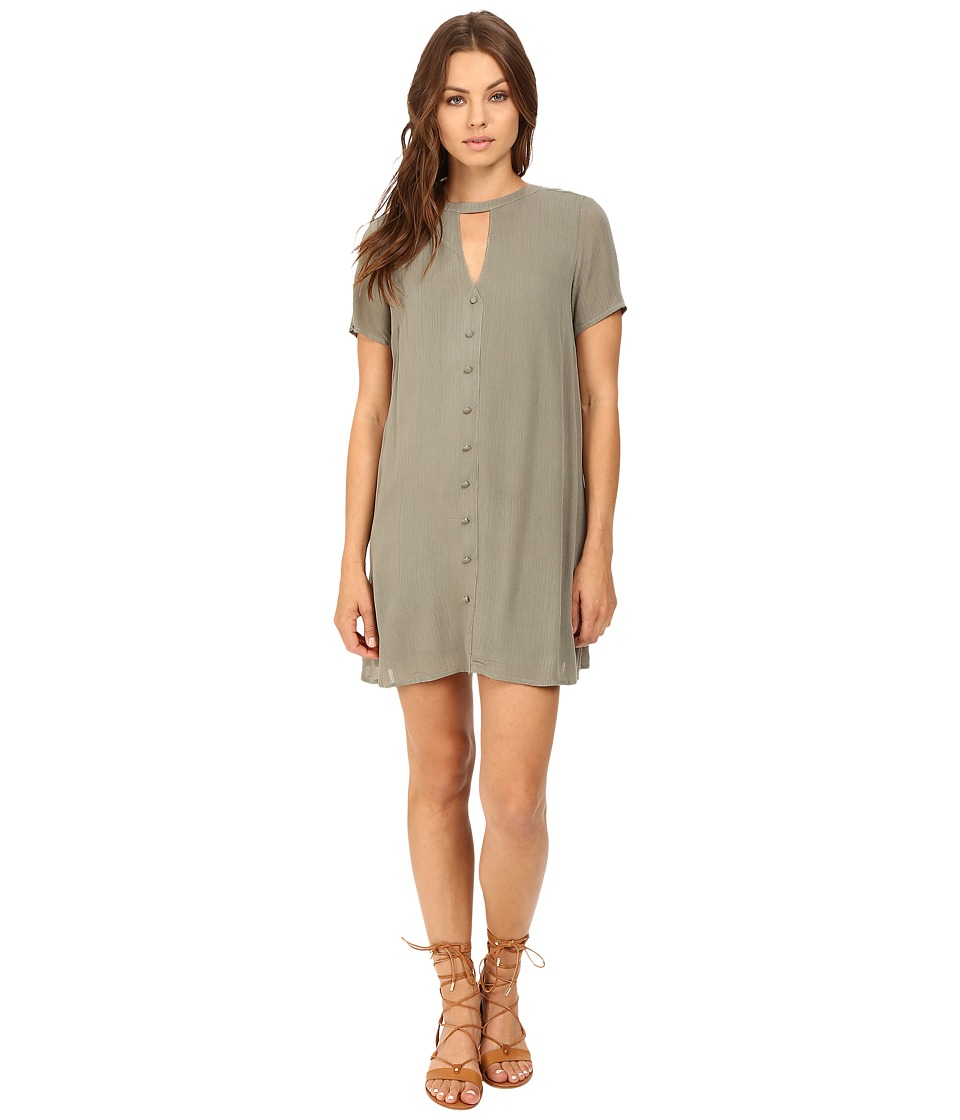 Brigitte Bailey Cicely Keyhole Button Up Dress (Olive) Women