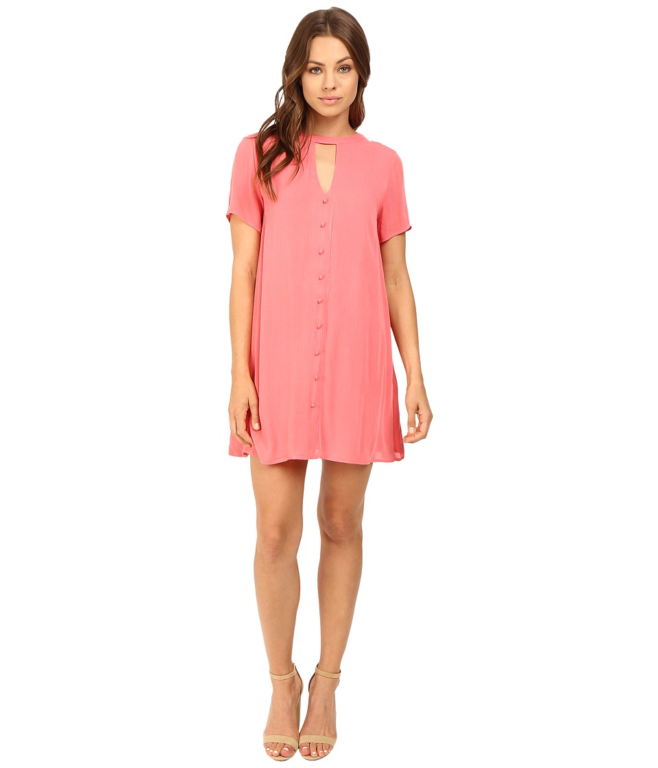 Brigitte Bailey - Cicely Keyhole Button Up Dress (Coral) Women's Dress