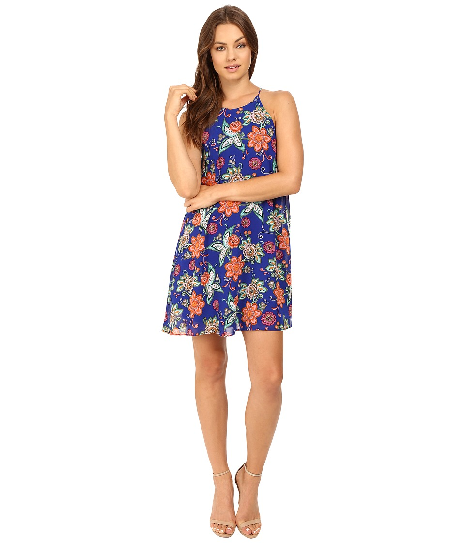 Brigitte Bailey - Macen Spaghetti Strap Floral Dress (Royal) Women's Dress