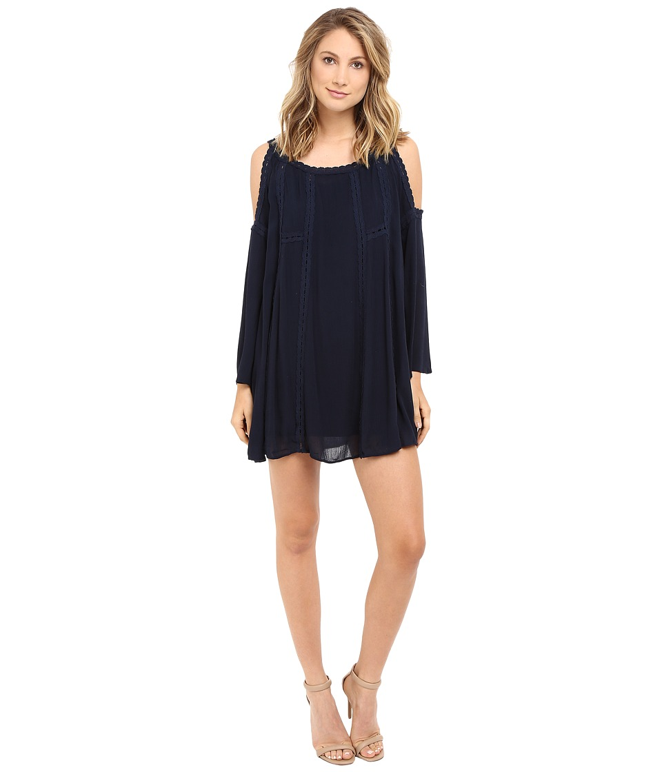Brigitte Bailey - Easten Cold-Shoulder Dress (Navy) Women's Dress