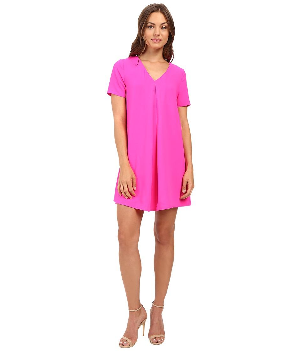 Brigitte Bailey - Austen Short Sleeve Lace-Up Dress (Neon Pink) Women's Dress