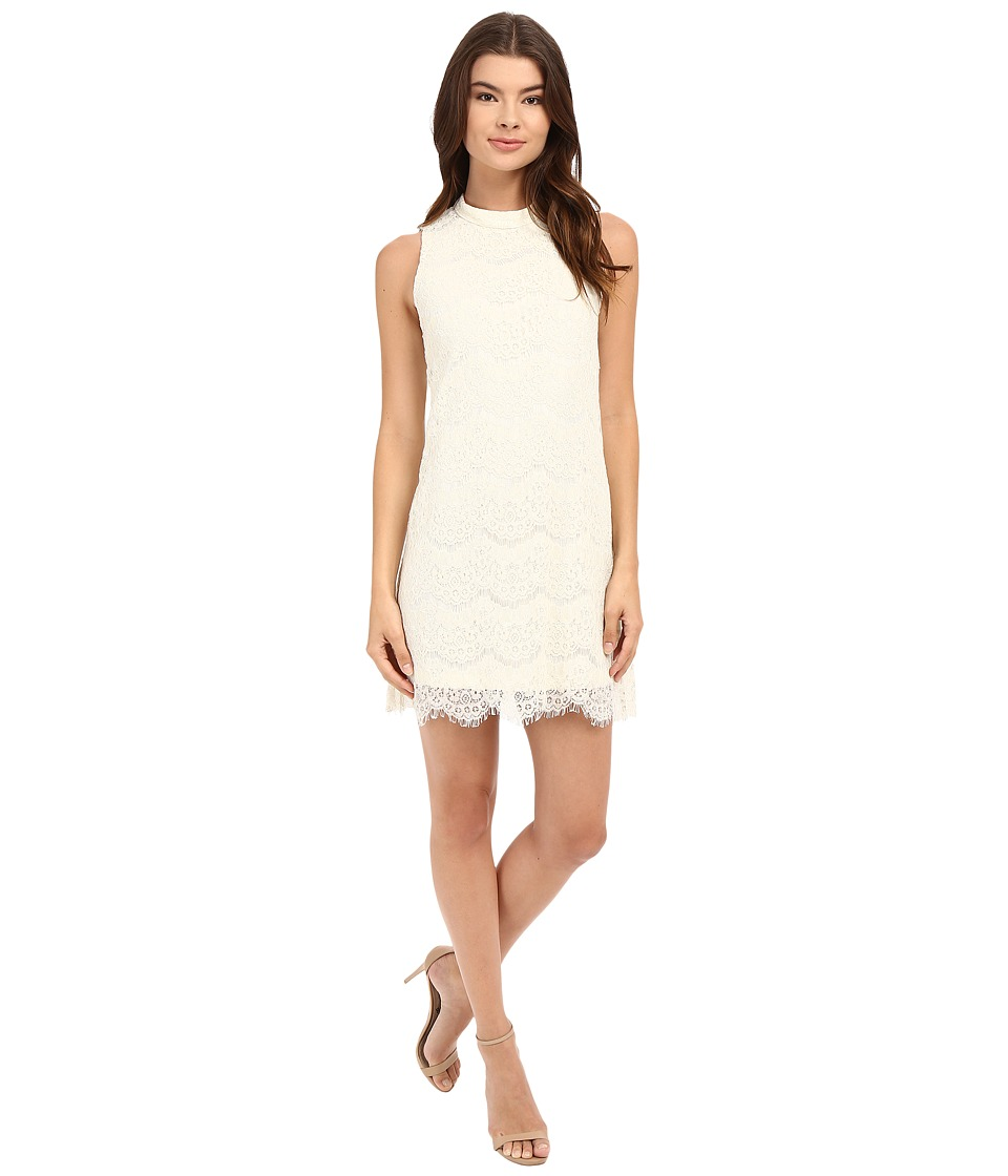 Brigitte Bailey - Albany Mock Neck Dress (Vanilla) Women's Dress