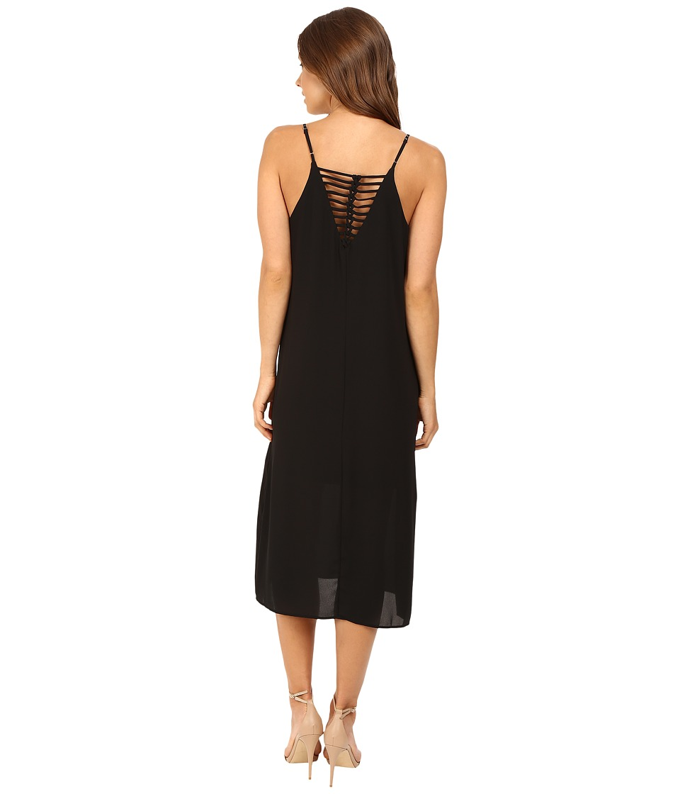 Brigitte Bailey - Darilyn Spaghetti Strap Midi Dress with Back Detail (Black) Women's Dress