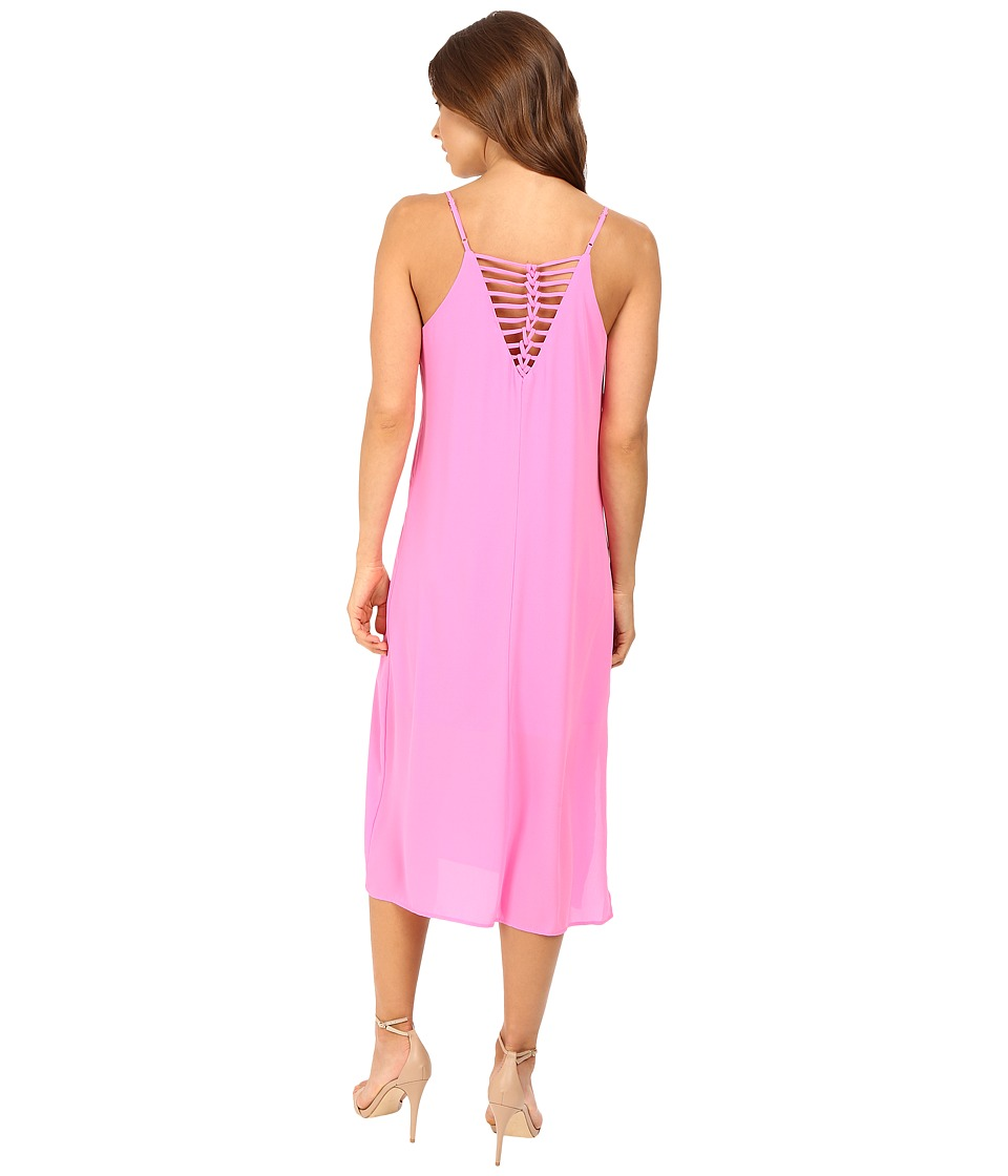 Brigitte Bailey - Darilyn Spaghetti Strap Midi Dress with Back Detail (Neon Pink) Women's Dress