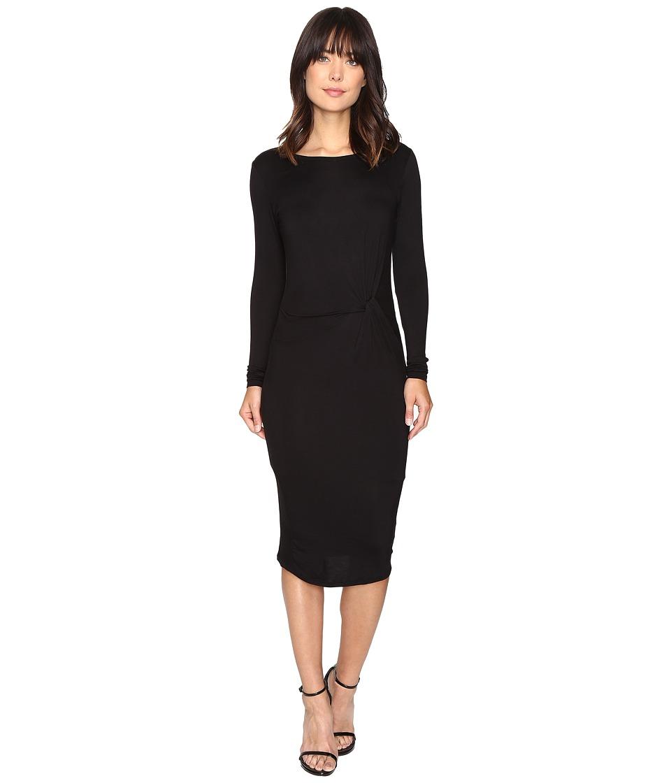 Brigitte Bailey Benicia Long Sleeve Dress (Black) Women