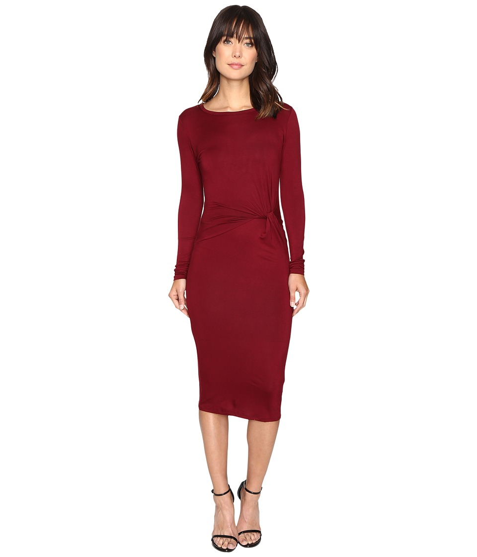 Brigitte Bailey Benicia Long Sleeve Dress (Burgundy) Women