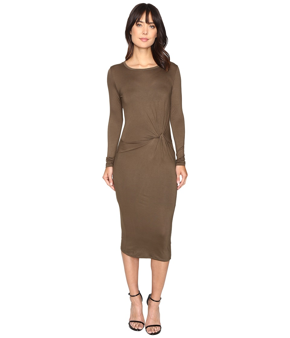 Brigitte Bailey - Benicia Long Sleeve Dress (Olive) Women's Dress