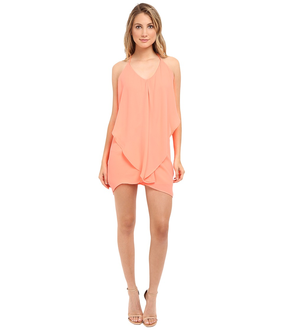 Brigitte Bailey - Dariela Ruffle Dress (Neon Coral) Women's Dress