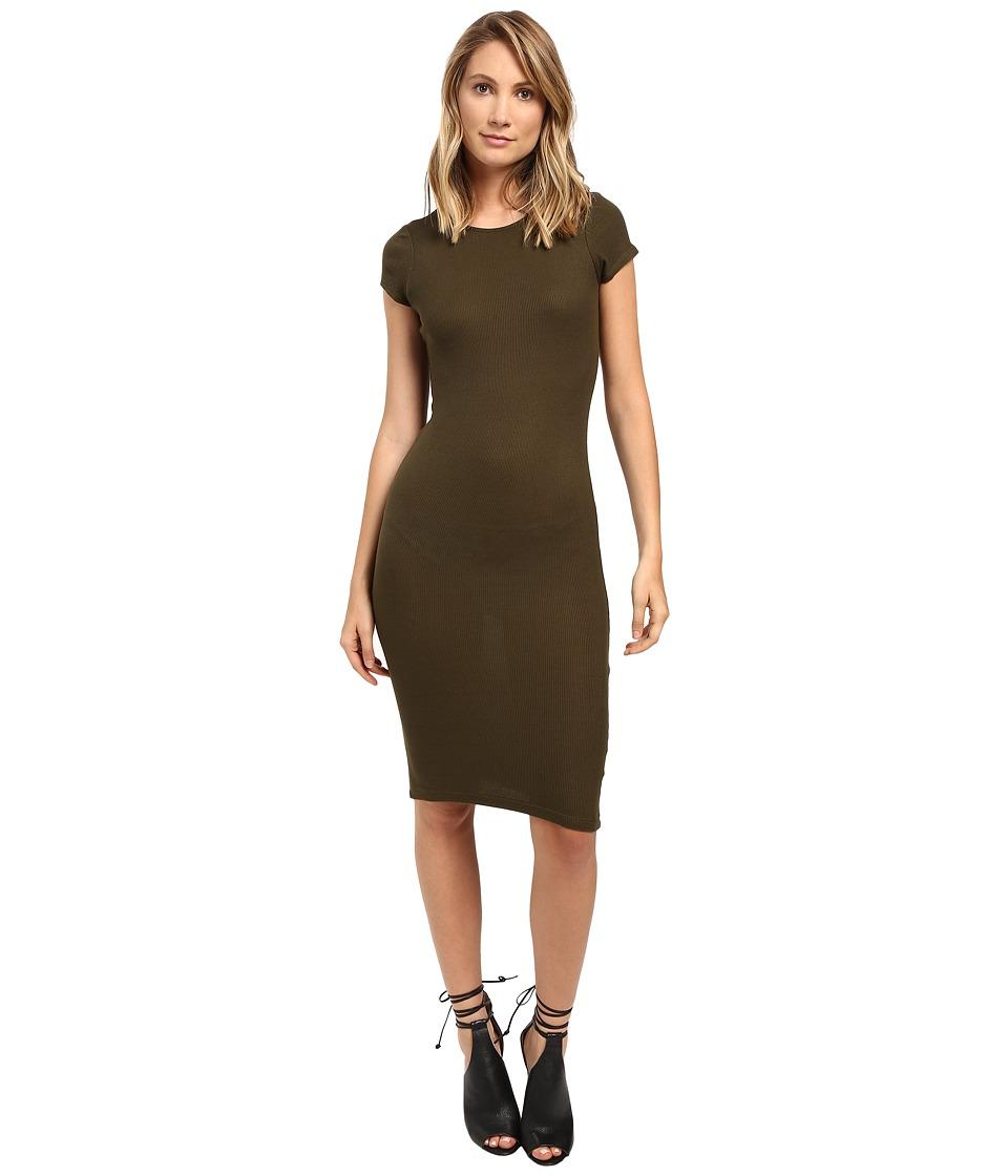 Brigitte Bailey - Maryana Short Sleeve Dress (Olive) Women's Dress