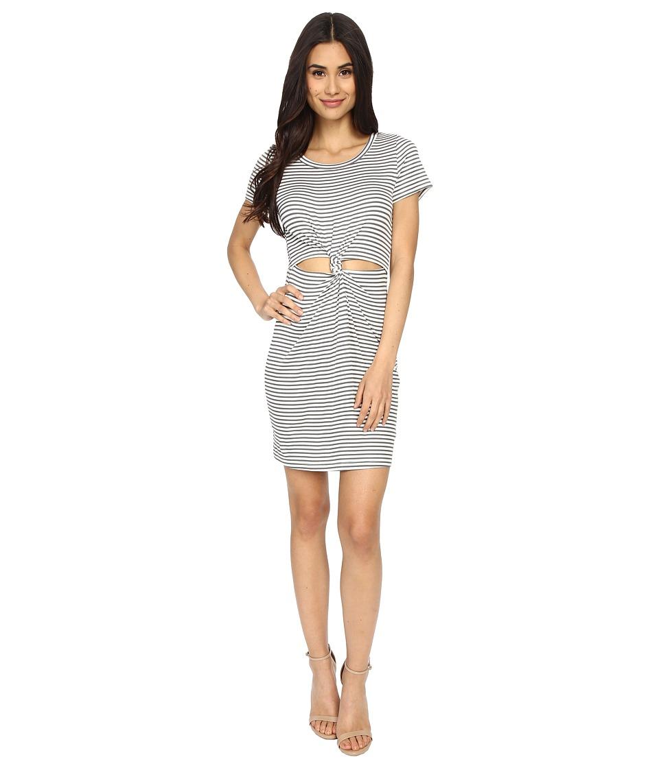 Brigitte Bailey - Graceanne Short Sleeve Front-Knot Dress (Grey) Women's Dress