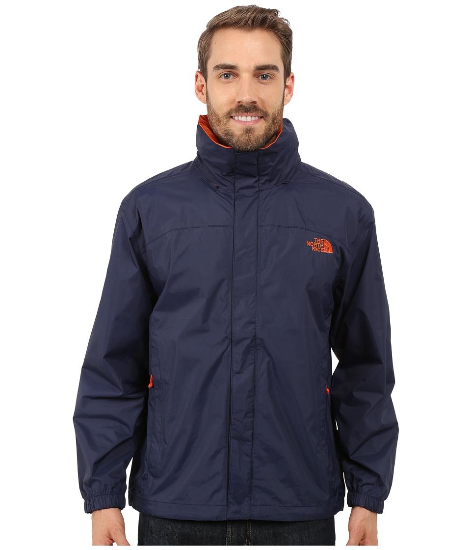 The North Face - Resolve Jacket (Cosmic Blue/Papaya Orange) Men's Sweatshirt