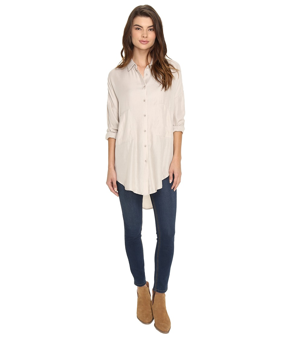 Brigitte Bailey - Danica Button Up Top (Khaki) Women's Clothing