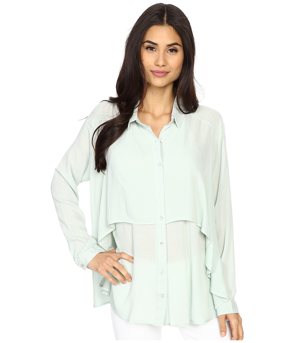 Brigitte Bailey - Dolly Long Sleeve Top (Sage) Women's Clothing