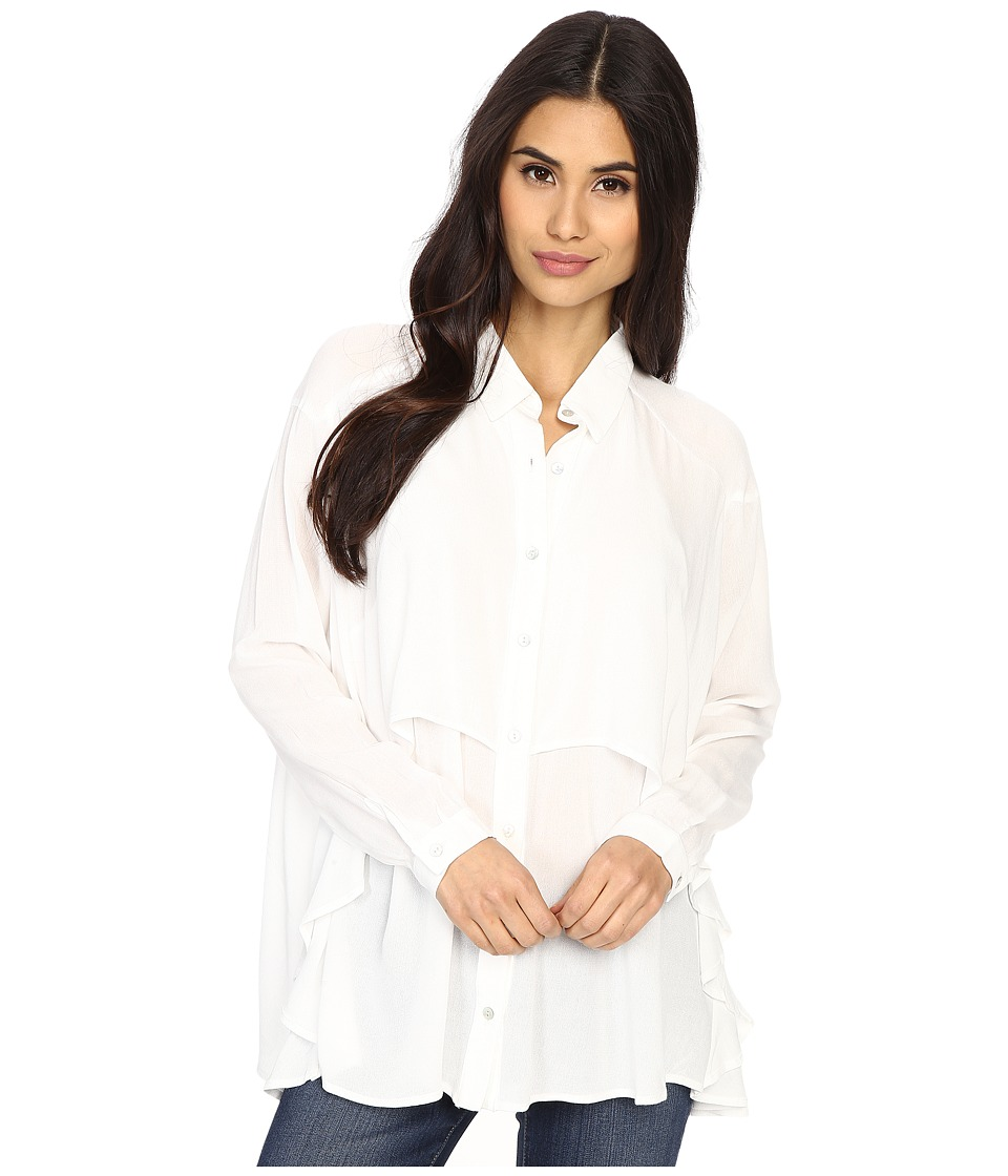 Brigitte Bailey - Dolly Long Sleeve Top (White) Women's Clothing