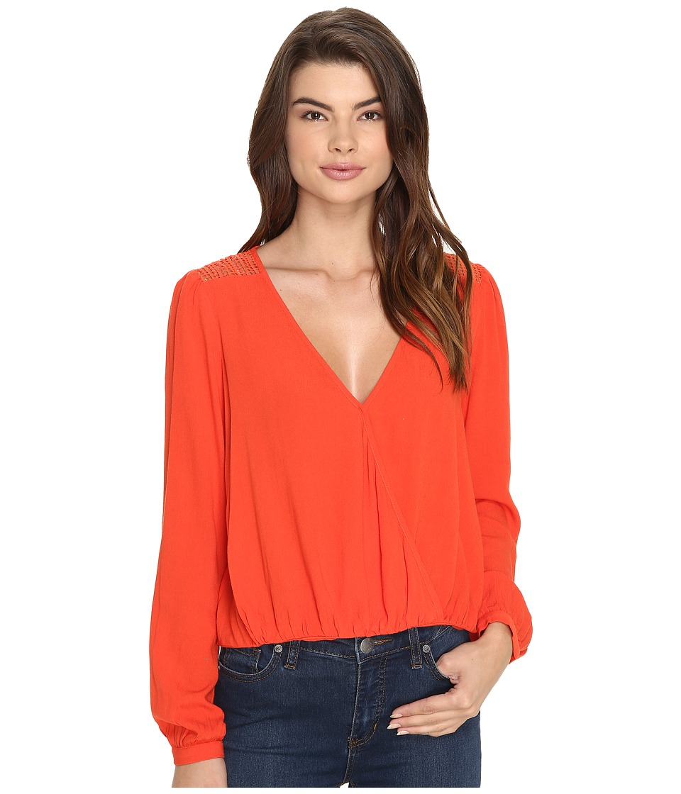 Brigitte Bailey - Eletta Long Sleeve Top (Red Orange) Women's Clothing