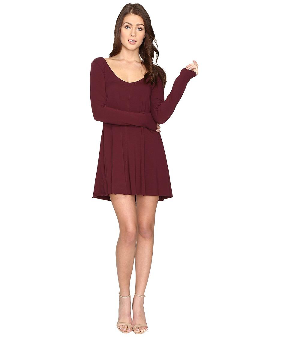 Brigitte Bailey - Fia Long Sleeve Dress (Purple) Women's Clothing