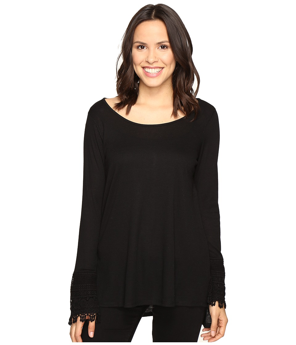 Brigitte Bailey - Taja Long Sleeve Top (Black) Women's Clothing