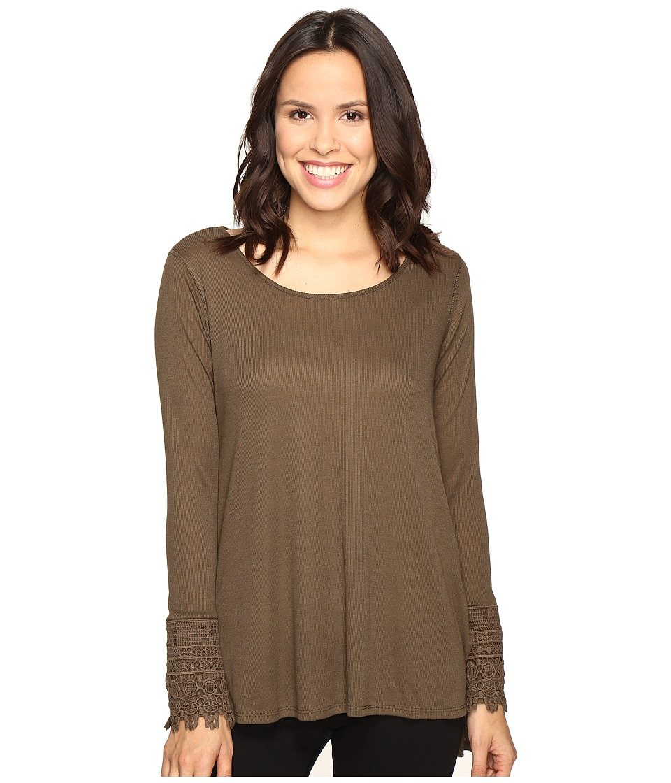 Brigitte Bailey - Taja Long Sleeve Top (Olive) Women's Clothing