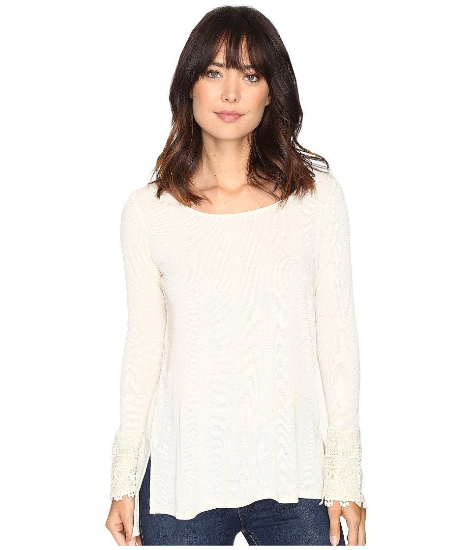 Brigitte Bailey - Taja Long Sleeve Top (Vanilla) Women's Clothing