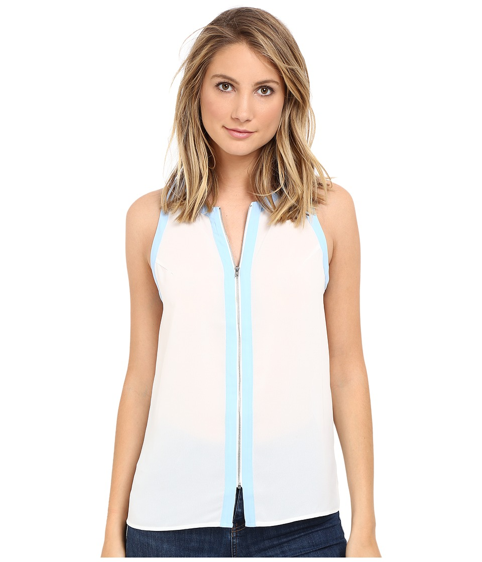 Brigitte Bailey - Tansy Sleeveless Top (White/Blue) Women's Sleeveless